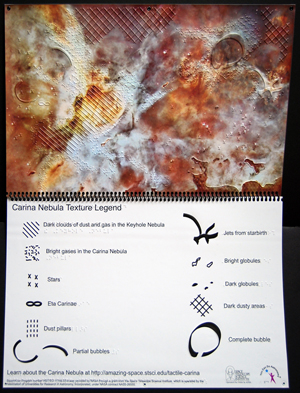 Tactile Carina Nebula Display