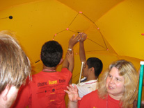 Celestial Navigation in a tactile tent
