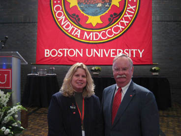 Noreen Grice and BU President Robert Brown
