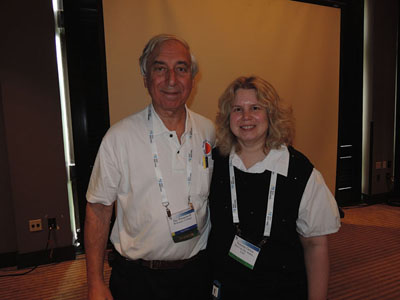 Noreen Grice with Dr Jay Pasachoff