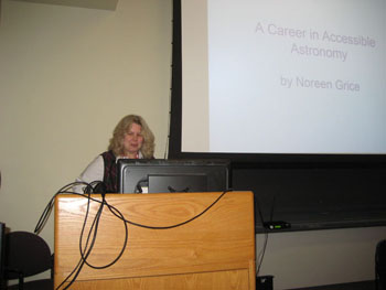 Noreen Grice at her Career Talk