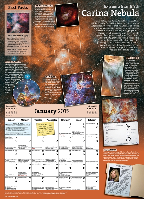 2015 Year in Space Calendar
