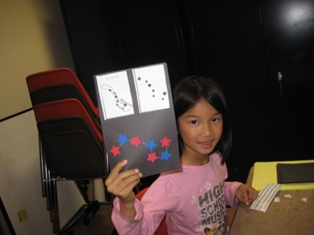 Girl with Star Book