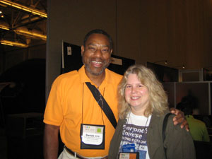 Noreen with Derrick Pitts