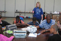 Students at the 2008 National Federation of the Blind Jr. Science Academy