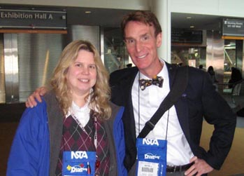 Noreen Grice and Bill Nye