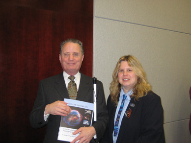 Dr. Mauer, President of the National Federation of the Blind, and Noreen